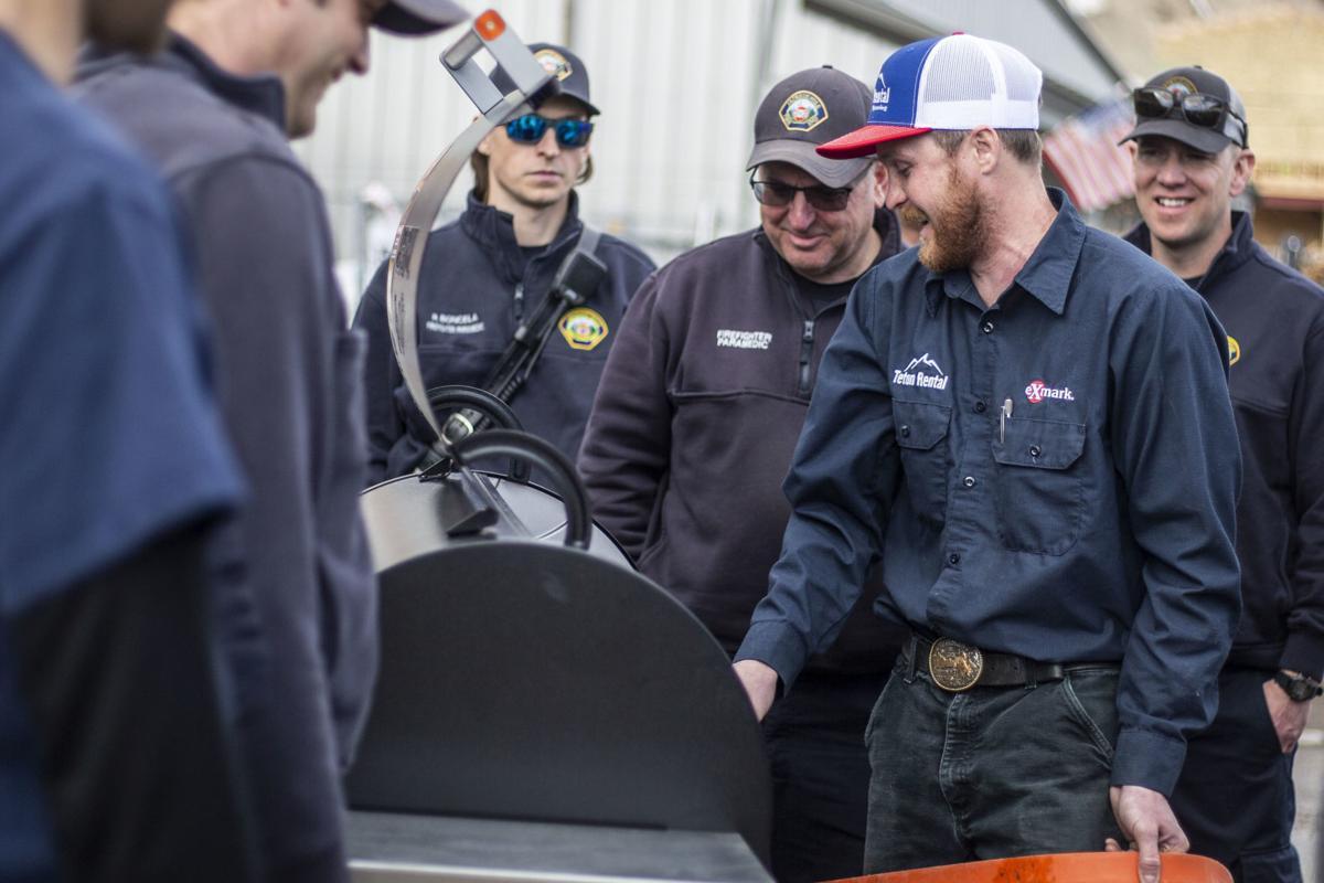 Teton Rental donates grill to Jackson Hole Fire/EMS