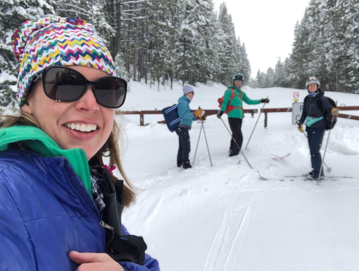Park skiers