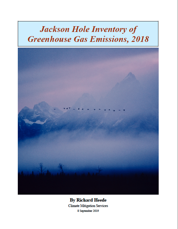 Jackson Hole Inventory of Greenhouse Gas Emissions, 2018