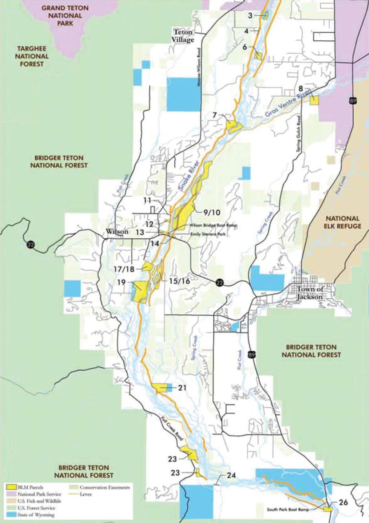 Game and fish open to blm land transfers town county for Wyoming game and fish maps