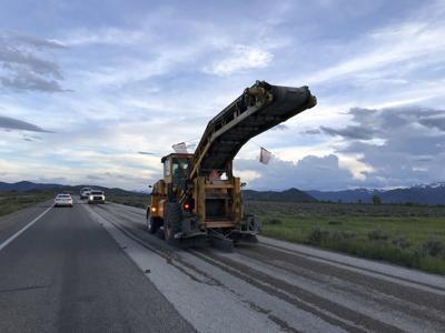 Road work in Grand Teton Park