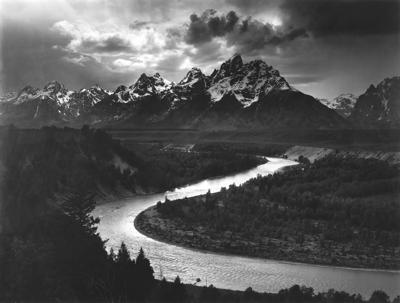 """Tetons and the Snake River"" by Ansel Adams"
