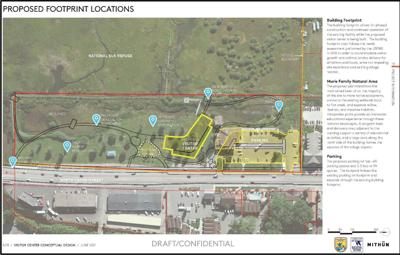 Planned NER Visitor Center footprint
