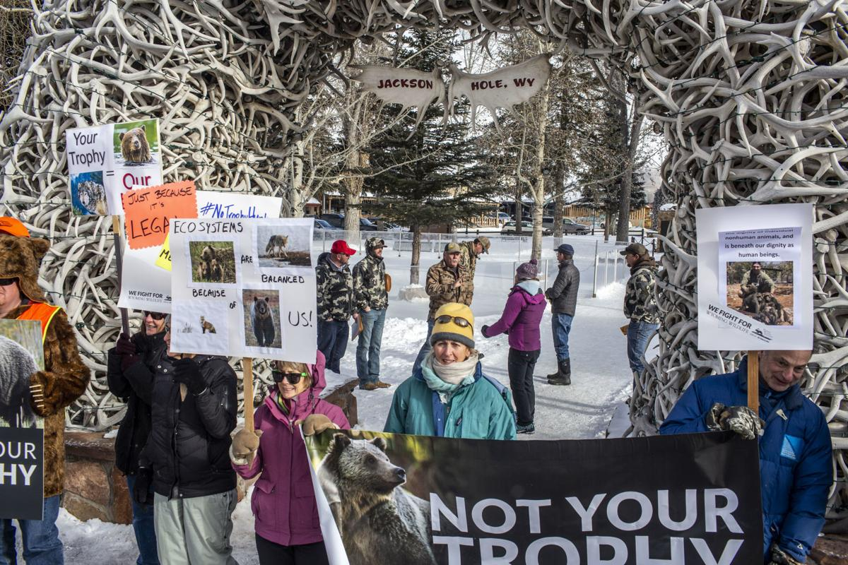 Trophy hunting protest