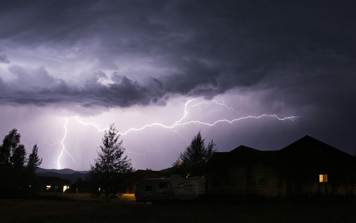 Lightning over Teton Valley