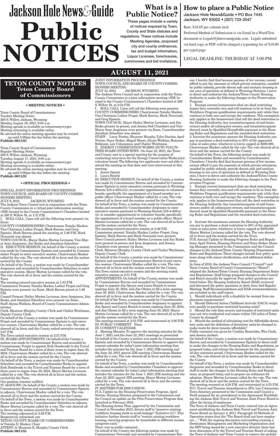 Public Notices, Aug. 11, 2021
