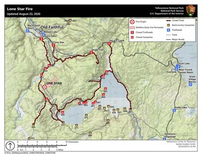 Lone Star Fire map 8-24-20