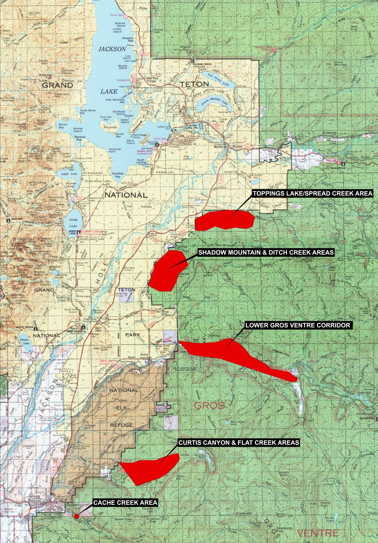 Bridger Teton National Forest Map
