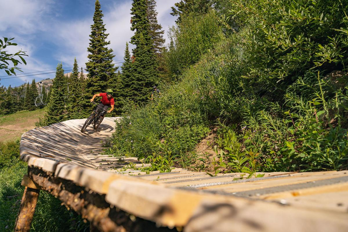 Deer Jump bike trail at JHMR
