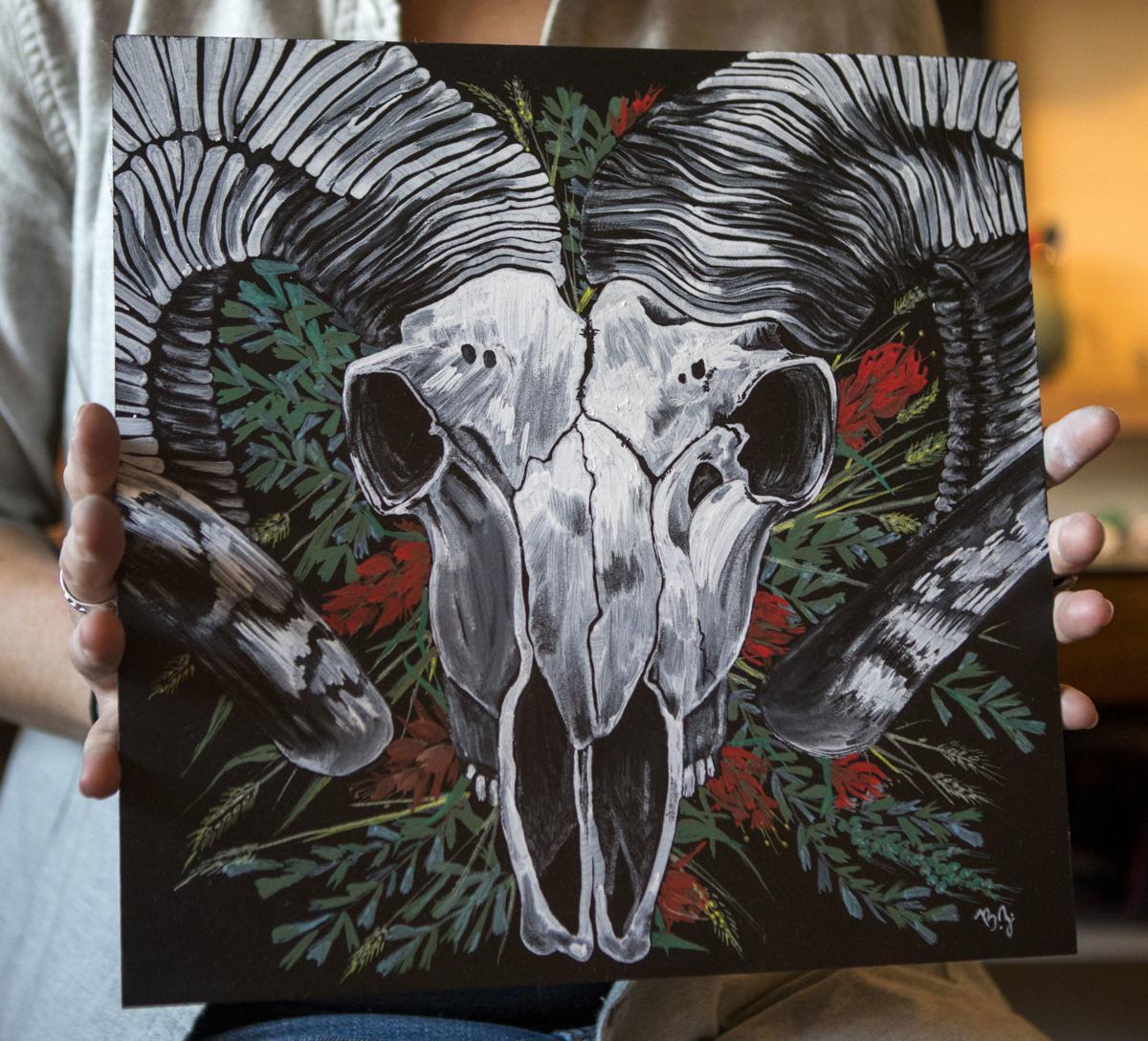 Chalk artist Britt Ziebell