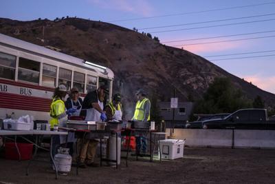 Saddle Butte firefighters breakfast