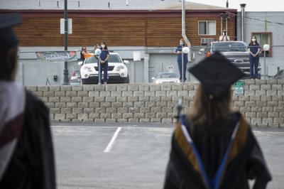 Socially distant CWC graduation