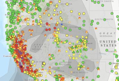 Smoke map, August 20