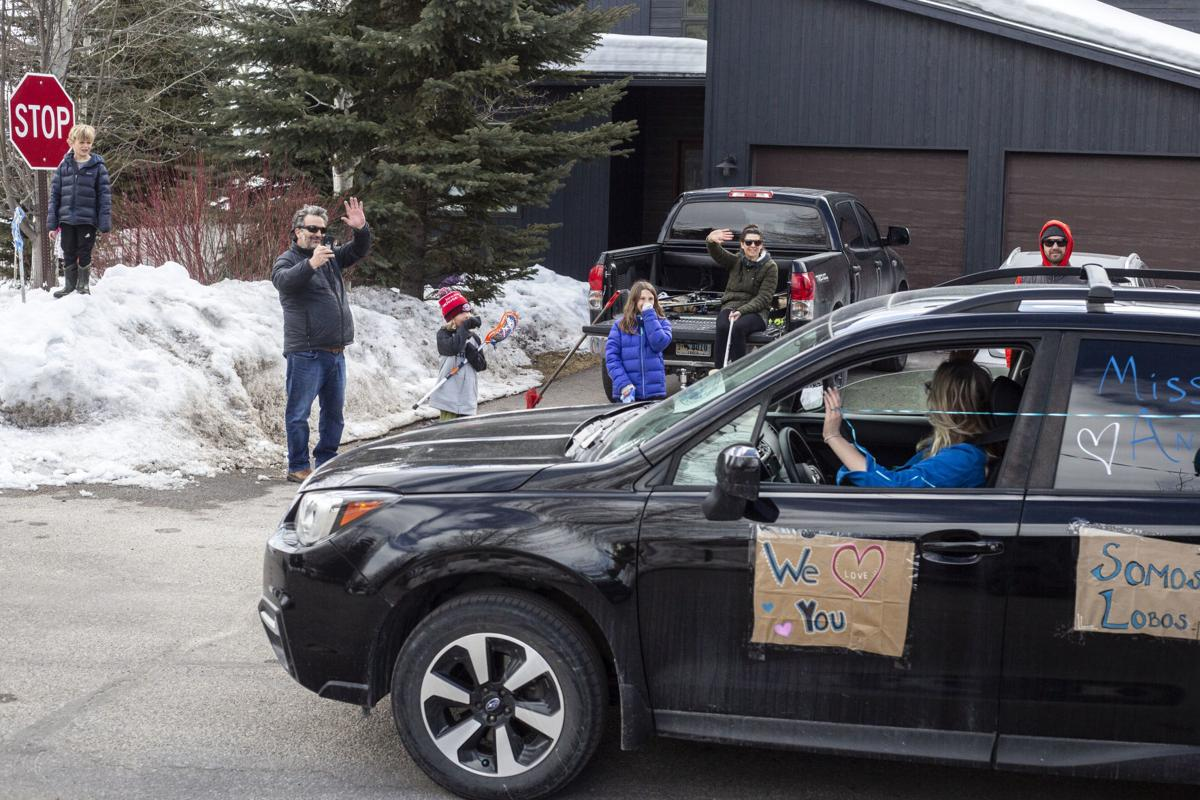 Munger Mountain teacher parade