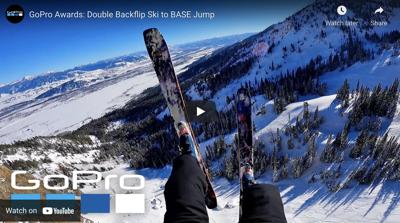 Ski-base jump at Jackson Hole Mountain Resort