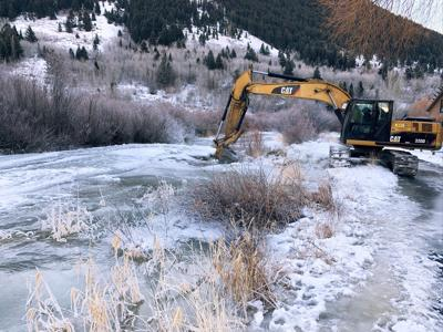 Flat Creek ice removal