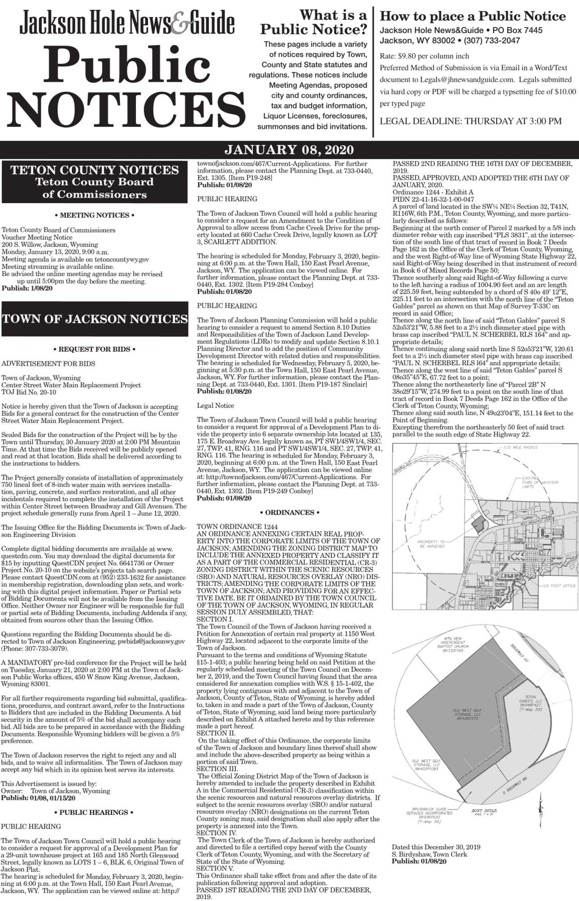 Public Notices, January 08, 2020