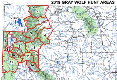 Wyoming wolf hunting units