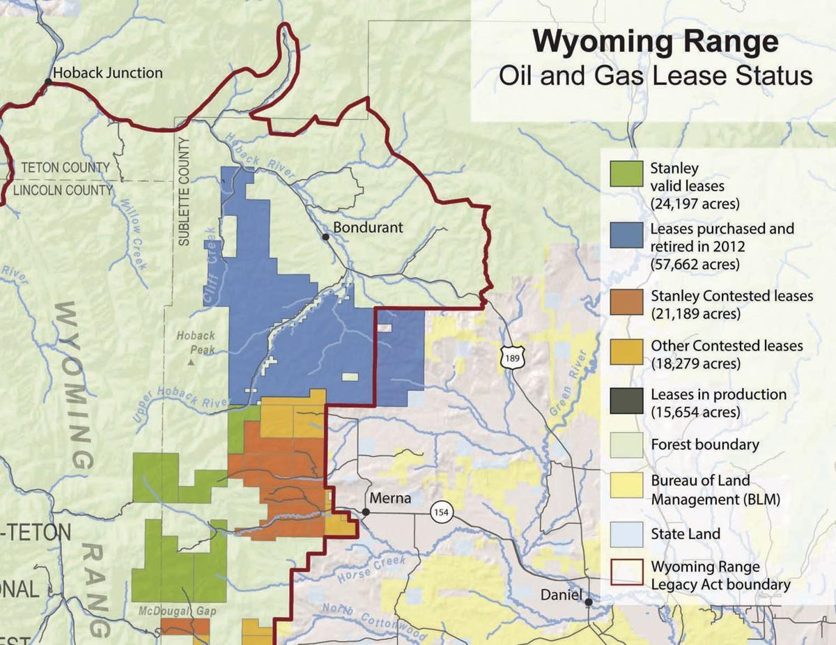 Wyoming Range lease map