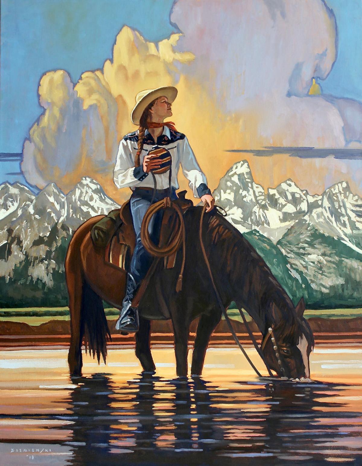 Teton Reflections by Dennis Ziemienski