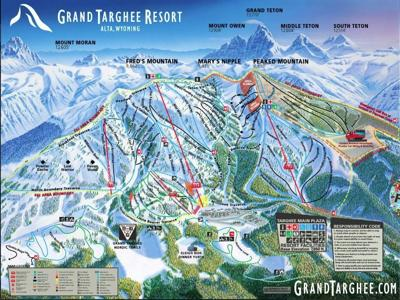 Grand Targhee winter trails map