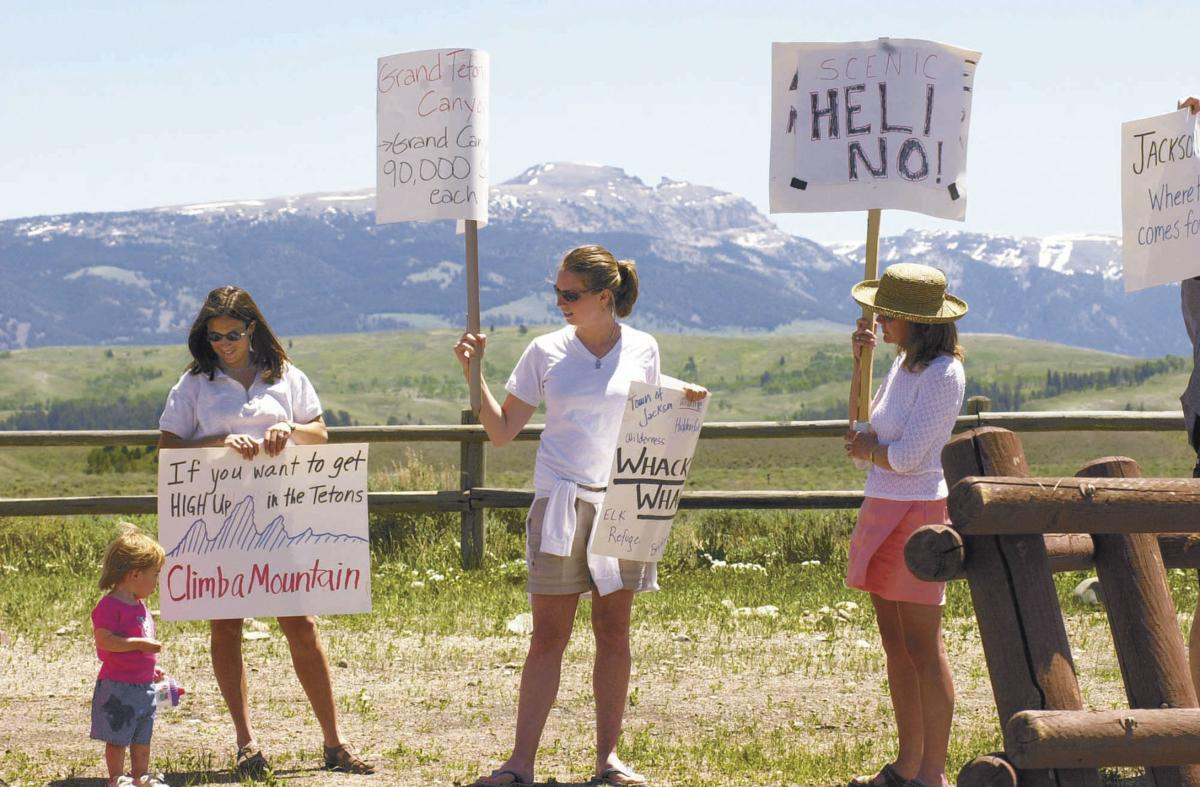 Heli tour protest