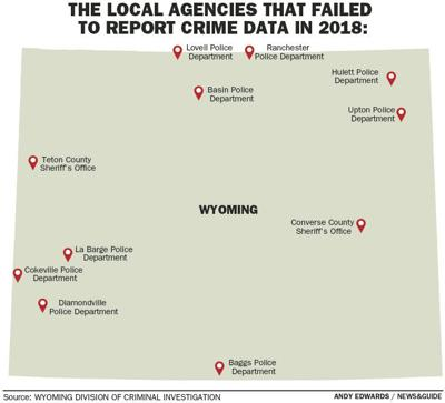 The local agencies that failed to report crime data in 2018