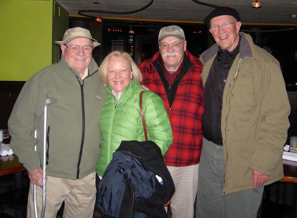 """e80613b78e5e8 """"Burnt steaks (on special request) and broccoli"""" in Denver s Rialto Cafe  kept fly-fishing legends Lefty Kreh (left) and Bob Clouser (middle) smiling  during ..."""
