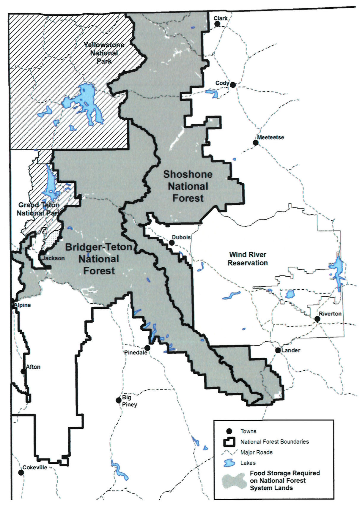 Required Food Storage Rules On The Bridger Teton And Shoshone National  Forests Have Been Expanded To Include The Entire Wind River Range.