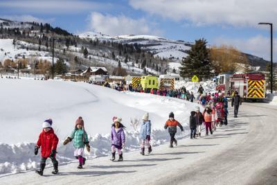 Munger Mountain Elementary School evacuation