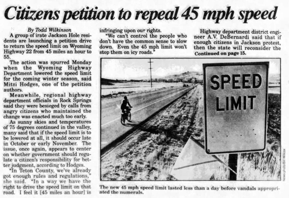 45 mph speed limit