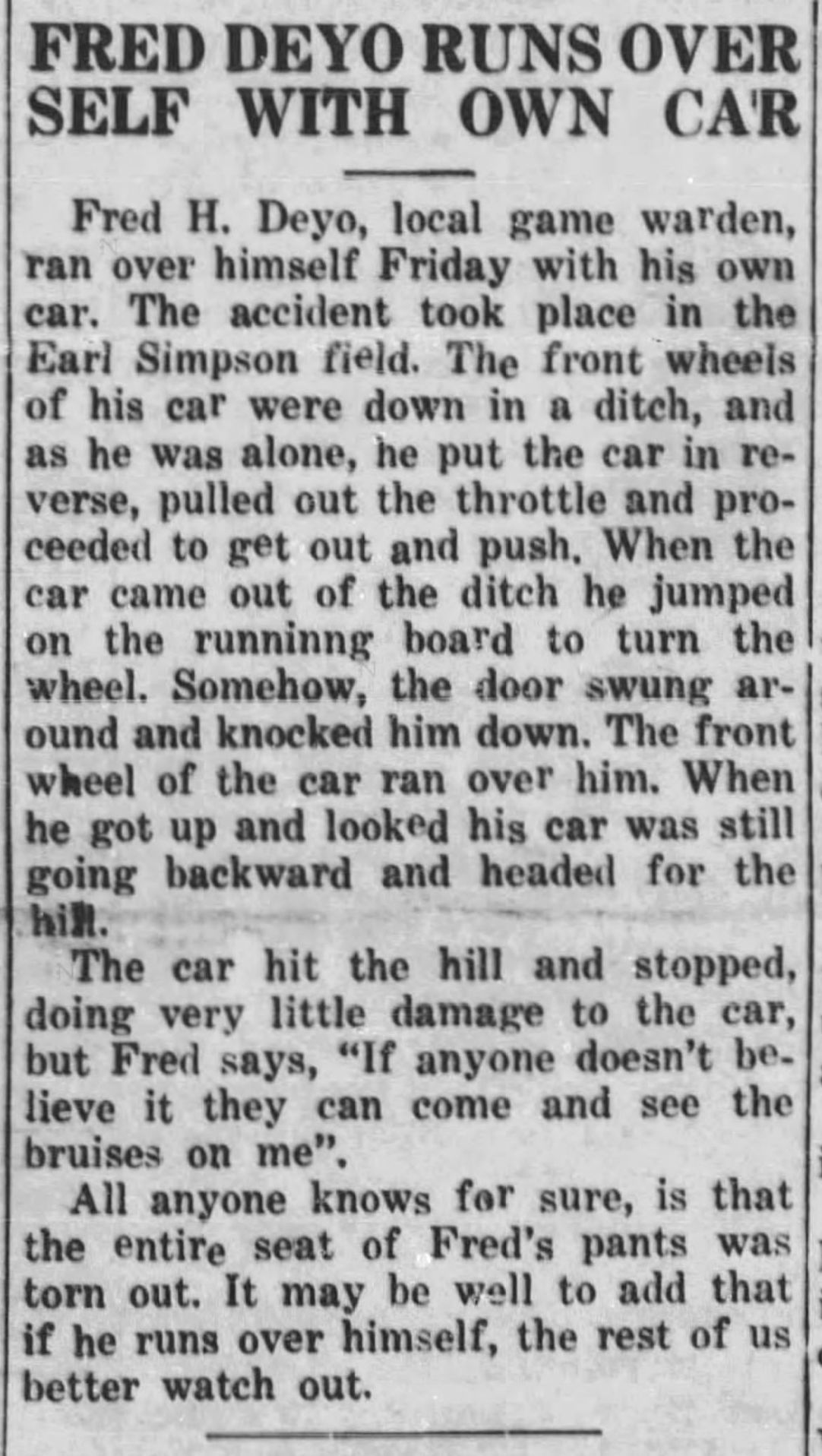 From the March 30, 1939, Jackson's Hole Courier