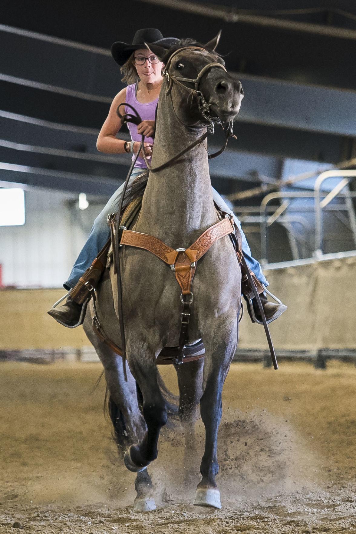 Teton County 4-H's pre-fair horse show practice