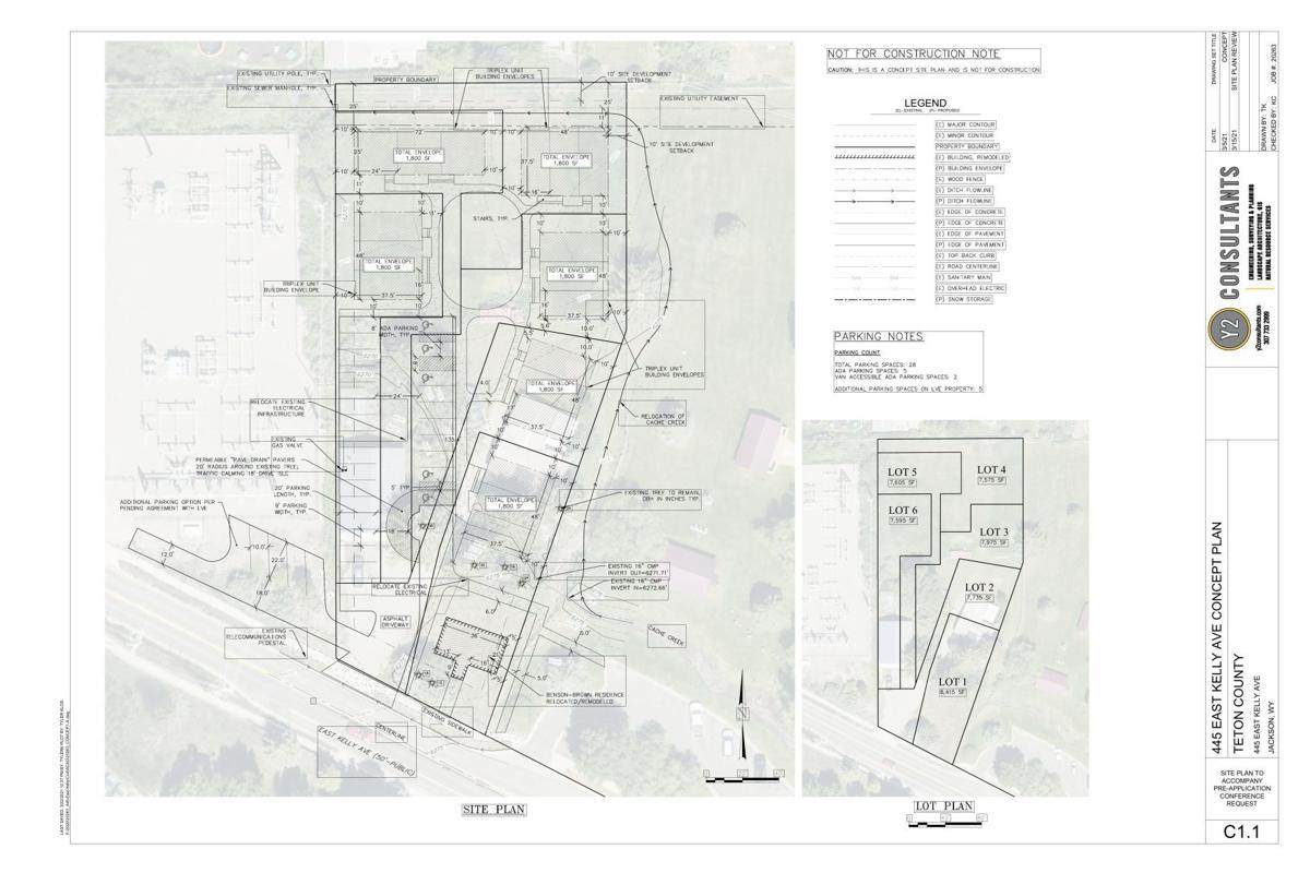 Brown property site plan