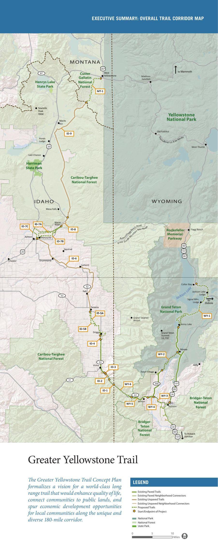 Greater Yellowstone Trail Map jhnewsandguidecom
