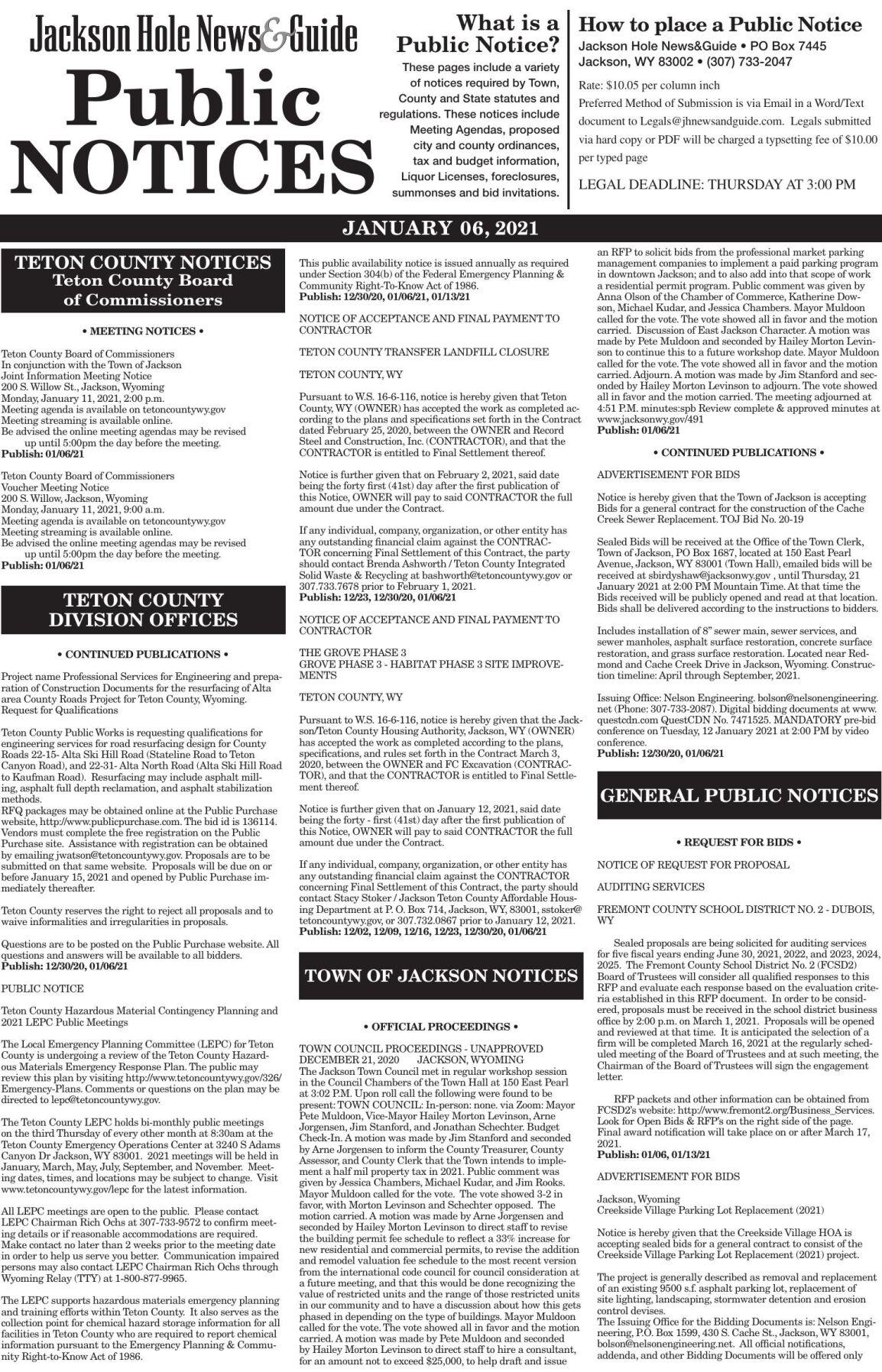 Public Notices, Jan. 06, 2021
