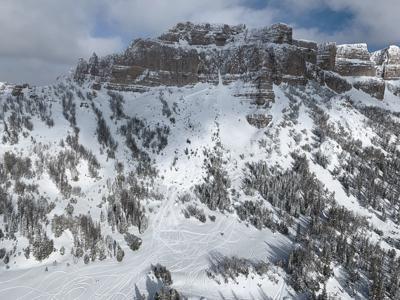 Breccia Cliffs avalanche