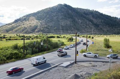 Intersection of Highway 22 and Spring Gulch Road