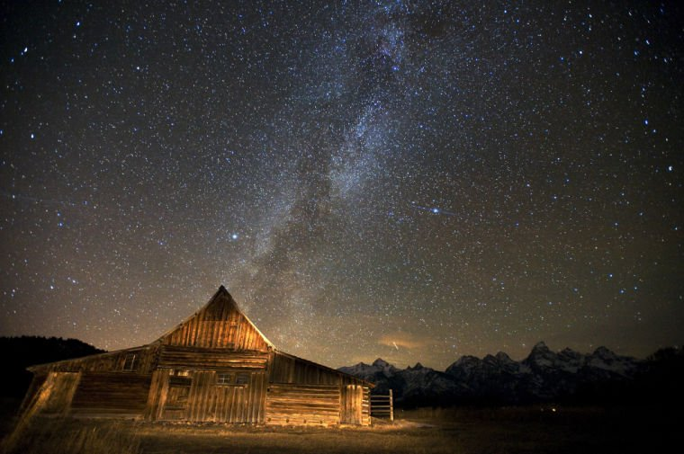 Milky Way over the Moulton Barn