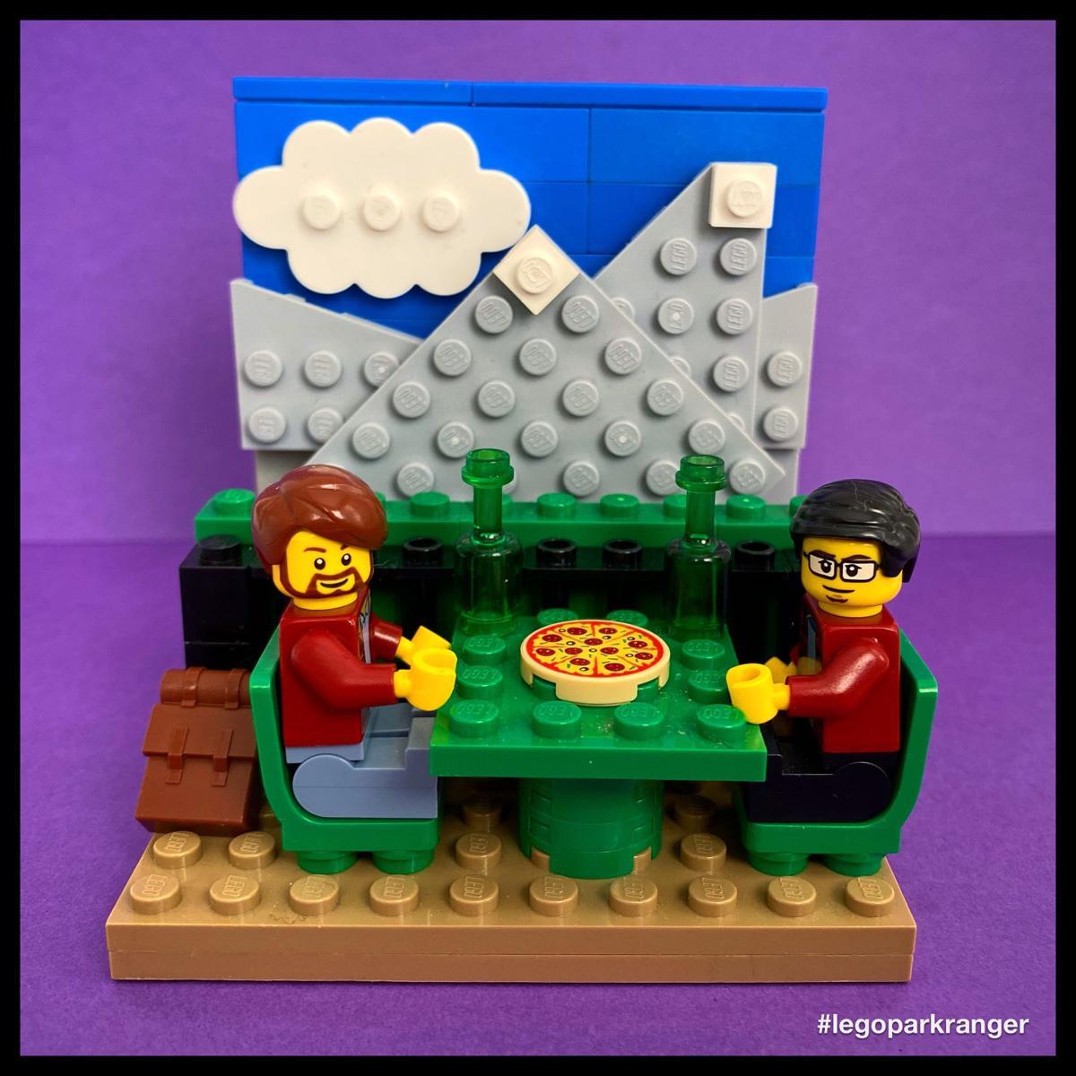 LEGO Grand Teton pizza
