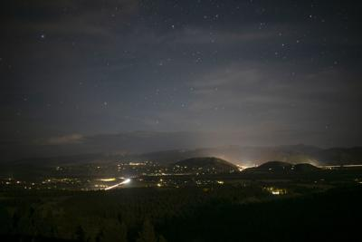 Jackson Hole at night, from Teton Pass