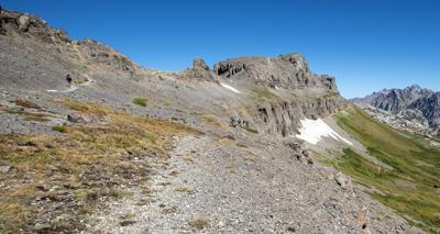 Teton Crest Trail at Hurricane Pass