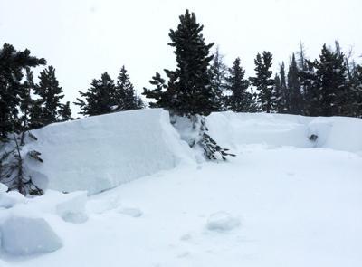 Avalanche near Togwotee Pass