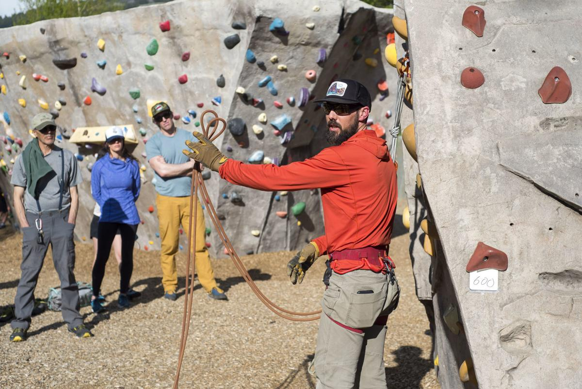 Exum Mountain Guides rappel back up clinic