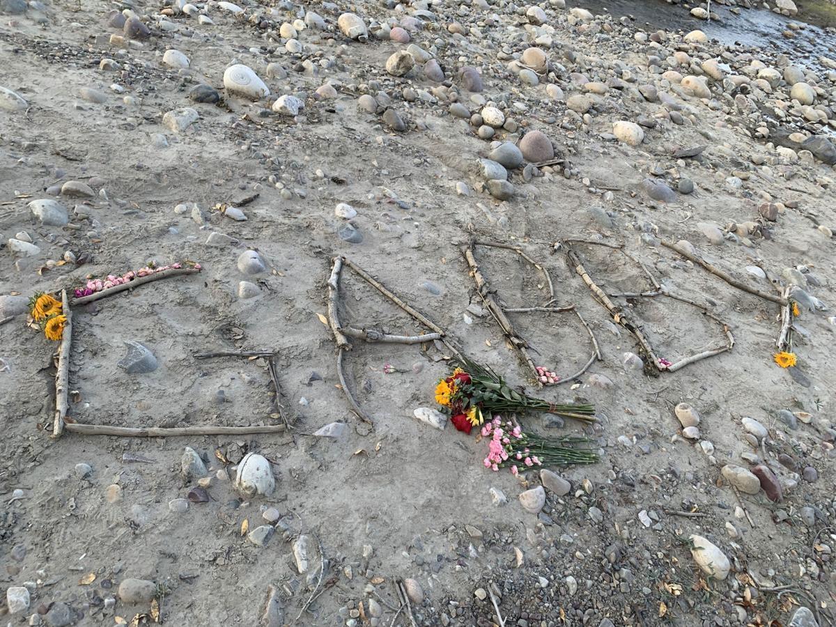 Gabrielle Petito memorial on Spread Creek