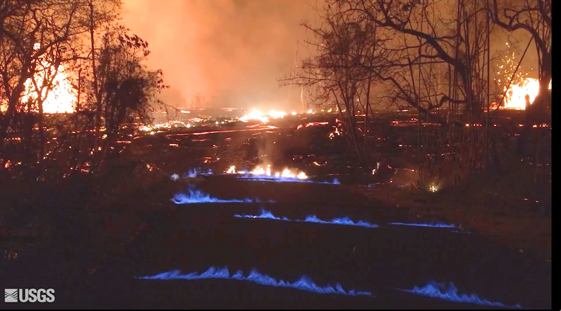 hawaii volcano generates blue flames from burning methane jackson rh jhnewsandguide com