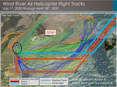 Wind River Air flight tracks, July 2020-present