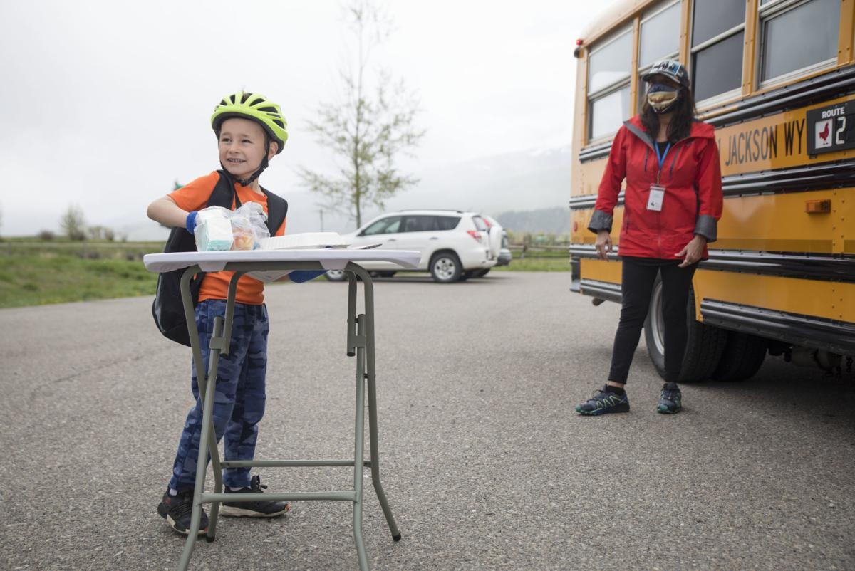 Buses deliver meals to students around Teton County