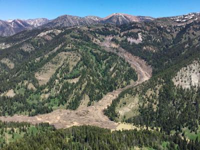 Jackson wyoming landslide pictures — 2