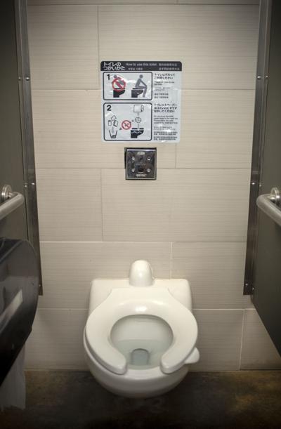 Home Ranch bathroom sign